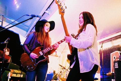 Lauren and Sabrina on guitar / bass