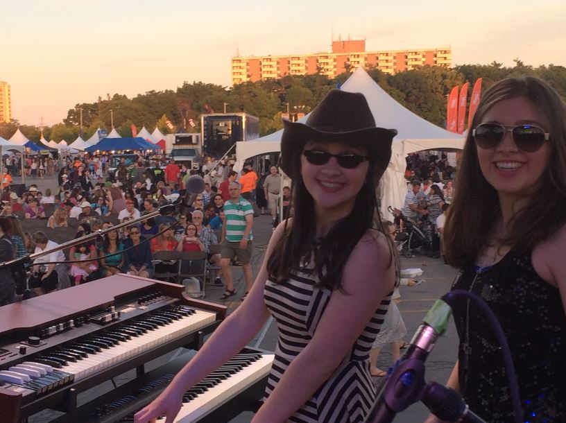 The Argues, before the show at Oakville Ribfest